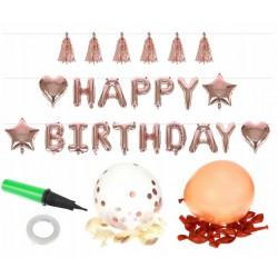 Sada nafukovacích balónku HAPPY BIRTHDAY ISO 8866