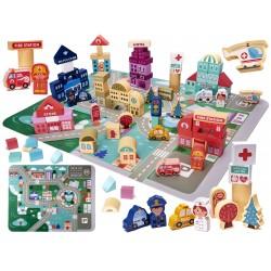 Dřevěné Město Puzzle 100ks KX6199