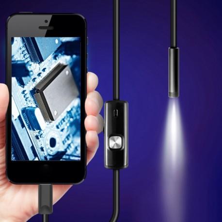 Inspekční (endoskopická) kamera 2m / 3,5m / 5m s Led micro USB OTG