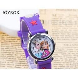 JOYROX Dětské hodinky Princezna Elza gumový pásek