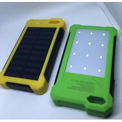 Power Bank s led svítilnou a solárním nabíjením 10800 mAh