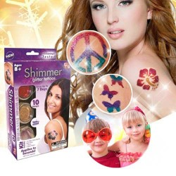 Dočasné barevné tetování Shimmer Glitter Tattoos