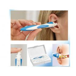 Spirálovitý čistič uší + 16 silikonových hlavic
