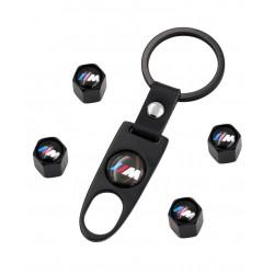 Klíčenka a 4 kusy ventylků BMW M