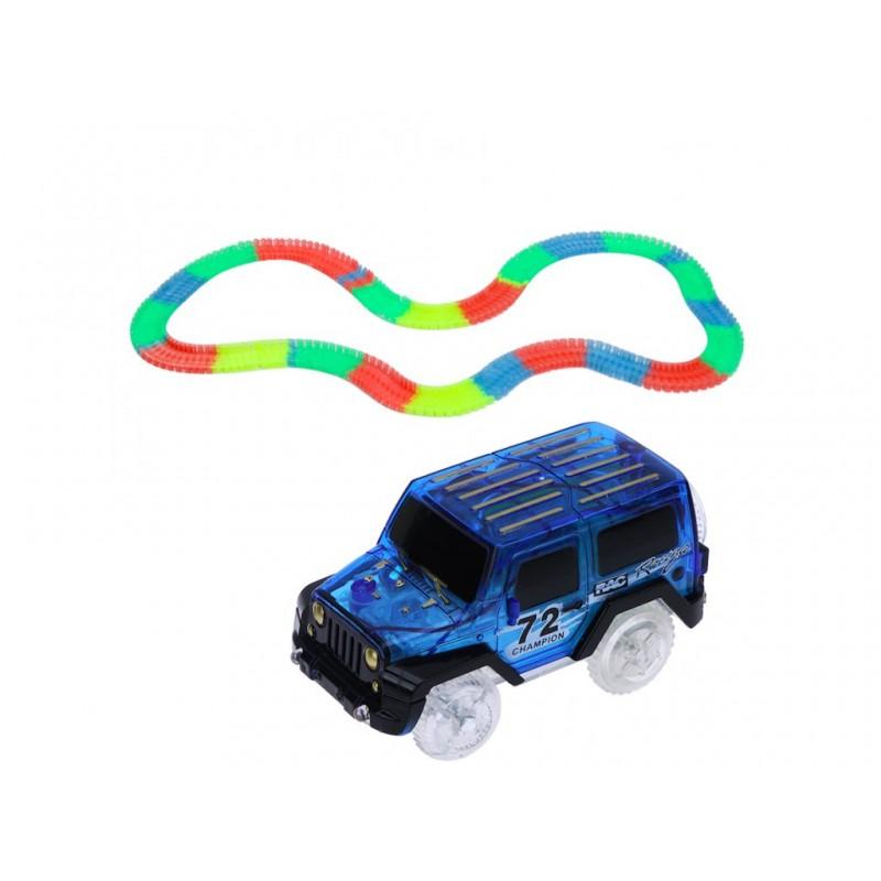 Autíčko k svítící autodráze Jeep Modrá