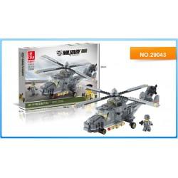 Jie Star Stavebnice 3v1 Vojenský vrtulník 29043 297ks