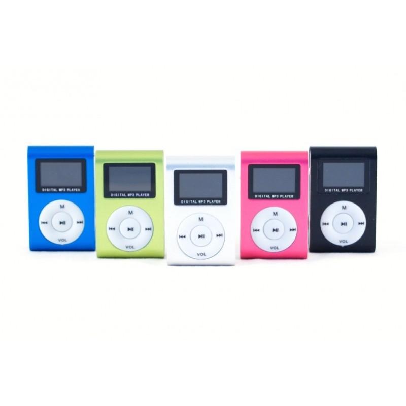 Mini MP3 přehrávač s displejem Černá