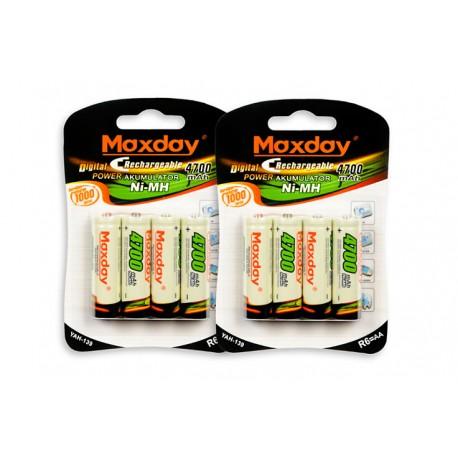 Nabíjecí Baterie R6 AA 4ks 4700mAh Maxday