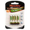 Nabíjecí Baterie R3 AAA 4ks 2700mAh Maxday