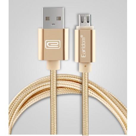 Micro USB kabel Earldom zlaty 1M