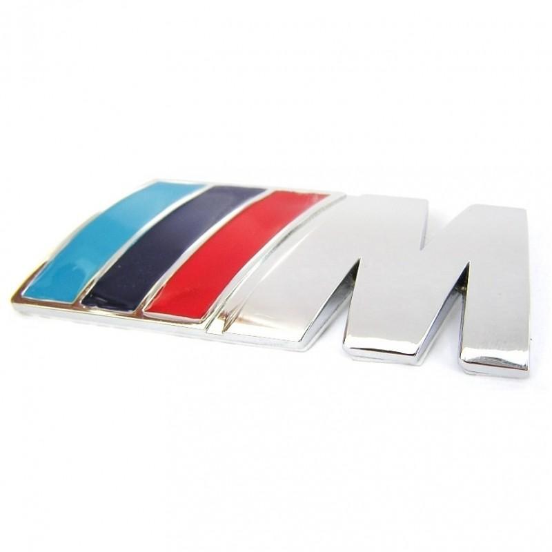 3D Znak BMW M Stříbrná Lesklá