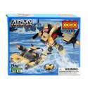 Cogo Army 2 v 1 Robot a Člun 3370 110ks