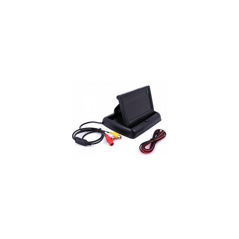 Monitor výklopný do auta pro kamery se zadním výhledem LCD 4,3''