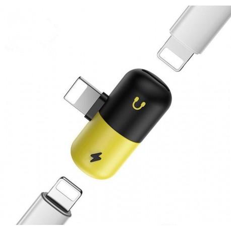 Adaptér 2 v 1 Lightning nabíjení  a sluchátka pro iPhone