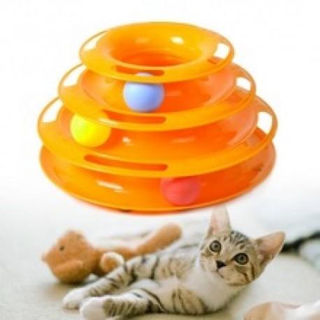 Hračka pro kočky věž s míčky 25 cm