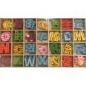 Malá dřevěná abeceda samolepící 108 ks