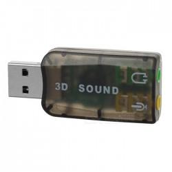 Externí USB 5.1 zvuková karta 3D