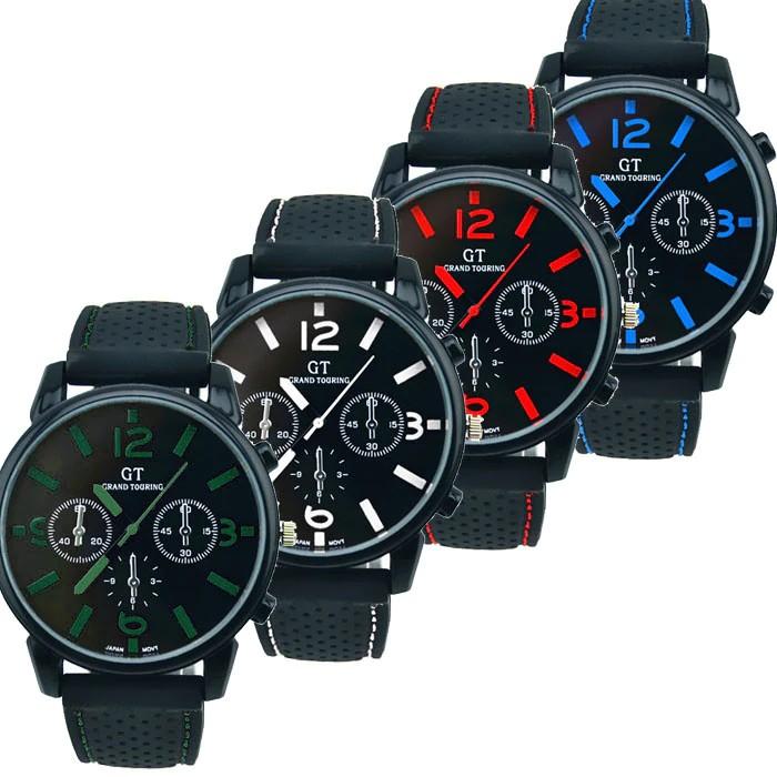 89fa8648afd GT Pánské hodinky gumovy reminek - Dianashop.cz
