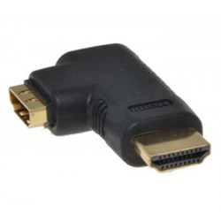 PremiumCord HDMI adapter19pin, F/M, 90° levá