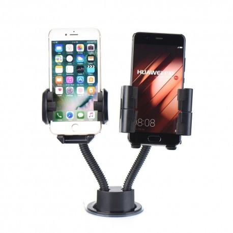 Držák do auta DOUBLE LONG ARM pro dva telefony