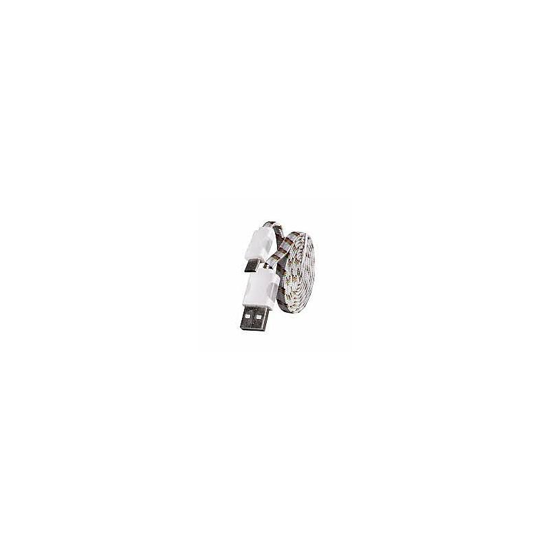 Svítící datový kabel micro USB Černá