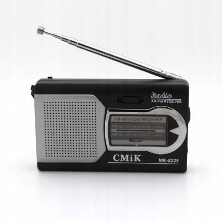 Mini FM AM radio CMiK MK-822E Silver