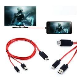 Redukce microUSB na HDMI pro telefony s MHL v1.0