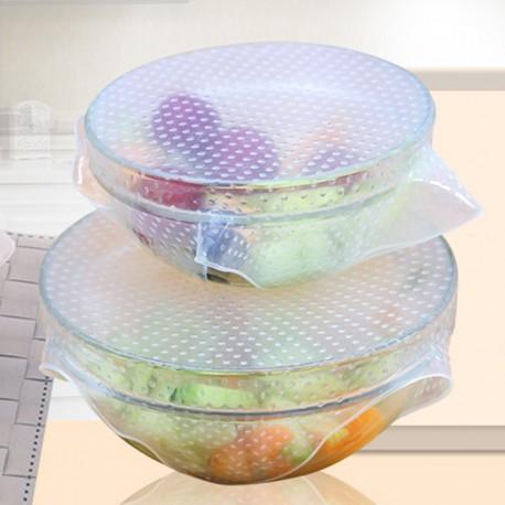 Silikonová víčka na nádoby - 4 ks