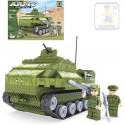 AUSINI Stavebnice ARMY Armádní tank 199 dílků + 2 figurky s doplňky 22408