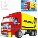 AUSINI Stavebnice MĚSTO Auto kamion sada 271 dílků + 1 figurka s doplňky plast 25601