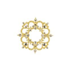 Nalepovací zlatý šperk se Swarovski Elements Roma zlatá Krystal na tělo a vlasy