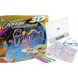 Magická kreslící 3D tabulka Dinosauři / kosmická loď / Žralok