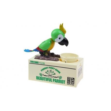 Papouškova pokladnička na mince