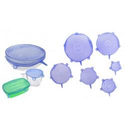 Silikonová víčka 6 kusů modrá