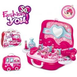 Kosmetický Kufřík - Auto růžové