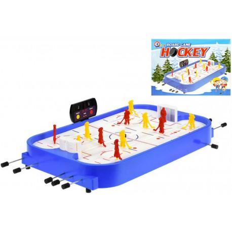 Hra lední hokej stolní s ukazatelem skore plast