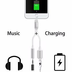 Redukce 2V1 lightning konektor a sluchatkovy jack iPhone 7