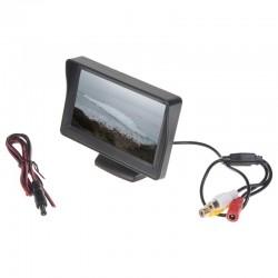 """LCD monitor 4,3"""" černý na palubní desku"""