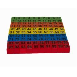 Dřevěné Kostičky s čísly 1-100