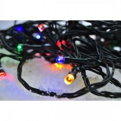 Solight LED vánoční řetěz, 60 LED, 10m, přívod 3m, 8 funkcí, IP20, vícebarevný