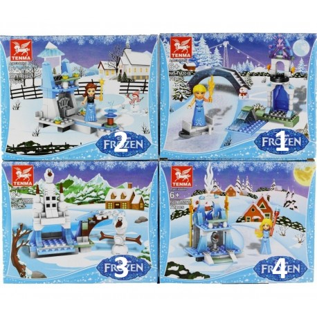 Tenma Frozen 4 druhy stavebnice 70ks TM2018