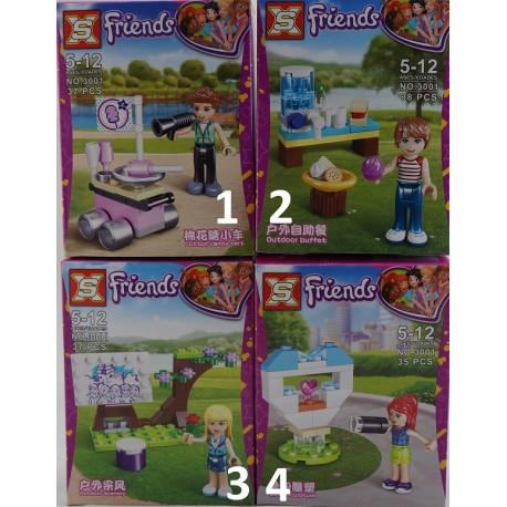 XS Friends v přírodě 4 druhy 38ks