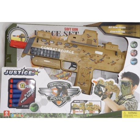 Dětská Vojenská puška 35cm s 12 náboji