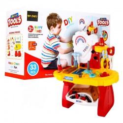 Dětský stolek s nářadím 33 kusů
