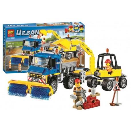 Bela Urban Stavebnice Čistící vůz a nakladač NO.10651 323ks