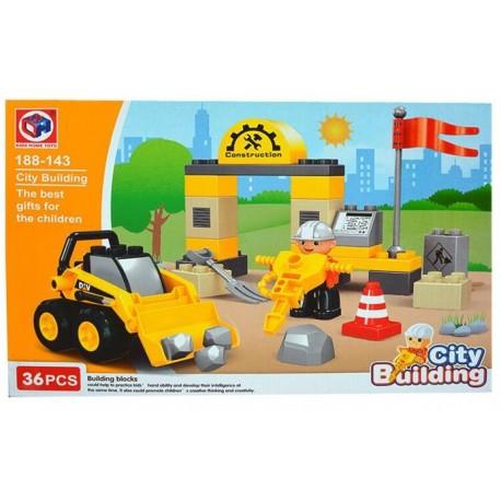 KHToys City Building Nakladač s dělníkem 36ks 188-143