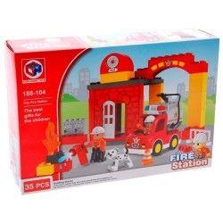 KHToys City Fire Station Hasiči 35ks 188-104