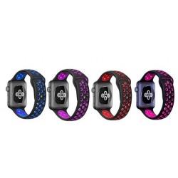 Silikonový / gumový sportovní řemínek pro Apple Watch 38 a 42mm