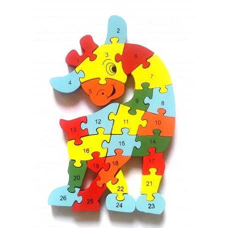 Dřevěné puzzle abeceda + číslice