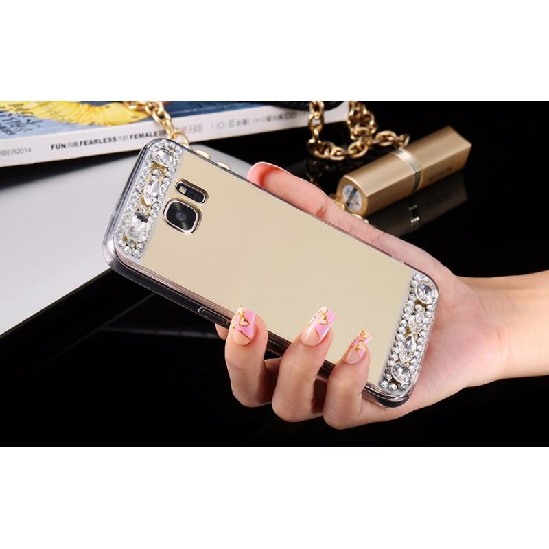 Silikonovy kryt Samsung diamant zrcadlo A3 A5 A7 A3 Zlatá